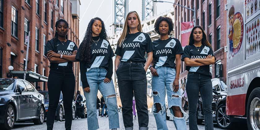 Avaya and Gotham FC Kick Off Exciting Women's Sports Partnership and the 2021 Season