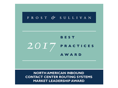 F&S 2017 ベストプラクティス賞 – North American Inbound Contact Center Routing Systems Market Leadership Award