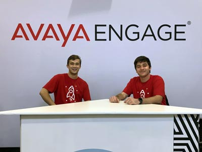 2 Avaya team members at Avaya Engage