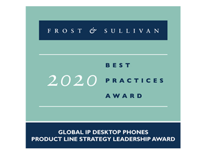 Frost & Sullivan 2020 best practices award (Global IP Desktop Phones)