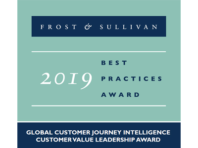 Frost & Sullivan 2019 North America Product Leadership Award