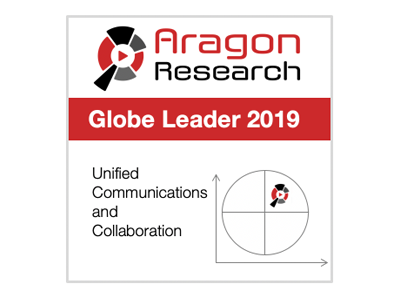 April 2019: Avaya is recognized as a Leader for the second consecutive year in the Aragon Research Globe™ for Unified Communications and Collaboration.