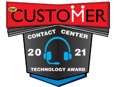 2021 Contact Center Technology Award from Customer Magazine