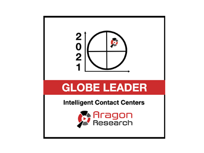 Aragon Research Globe for Intelligent Contact Centers, 2021