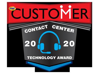 CUSTOMER Magazine 2020 Contact Center Technology Award