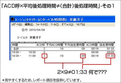 「ACD呼×平均後処理(ACW)時間≠合計後処理(ACW)時間」の理由